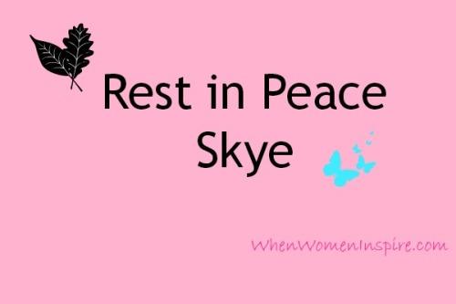 Sending prayers to Sky's family