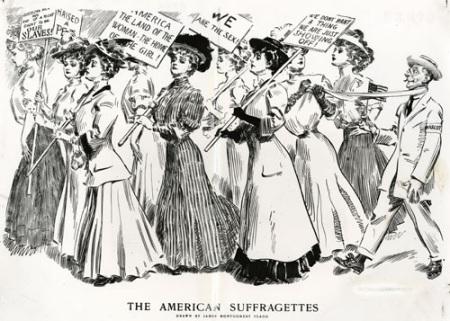 Political cartoon of women