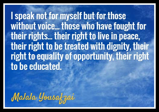 Malala Yousafzai Quote