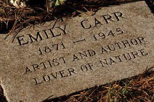 Gravestone of artist Emily Carr
