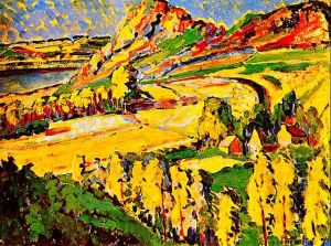 Emily Carr's painting Autumn in France
