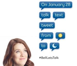 Bell Let's Talk Poster Featuring Clara Hughes