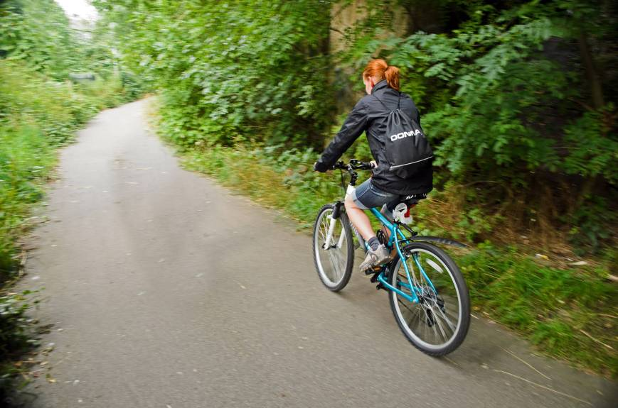 Biking is a more eco-friendly transportation option than driving