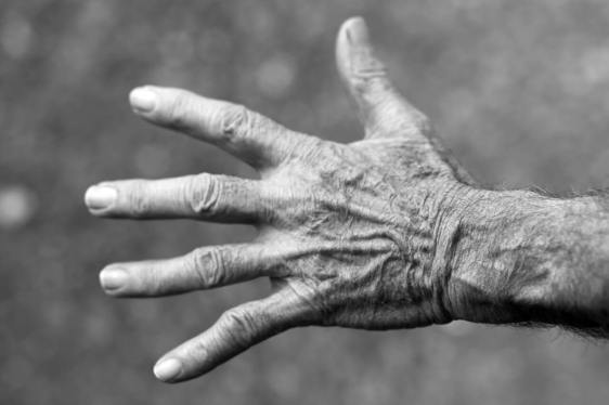 Older woman's hand
