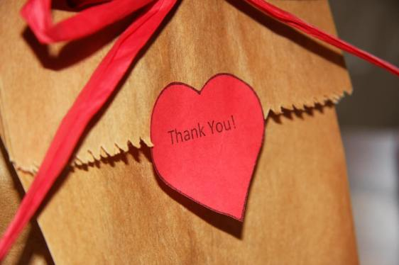 Give a thank you card for a gift received