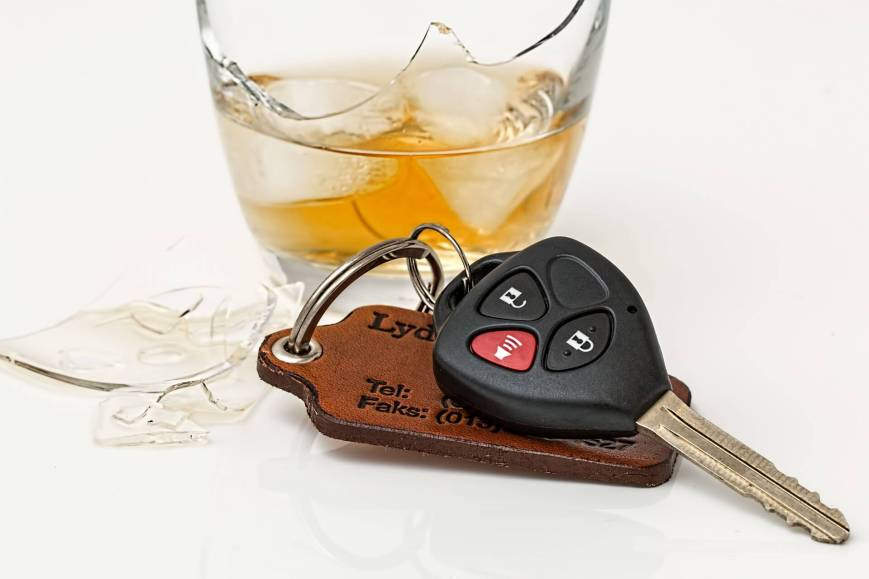 Alcoholic drinks and cars don't mix
